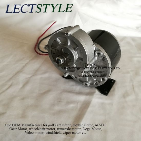 Electric DC Brushed Gear Motor on Go-Cart & Wheelchair with 350W 24V 36V DC pictures & photos
