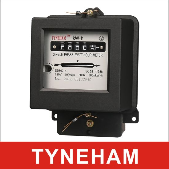 Dd862-2 Single Phase Two Wire Kwh Meter Mechamical Meter on