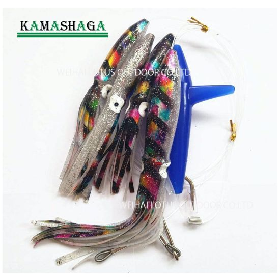 Feather with Bird and Rigged Teaser Fishing Trolling Luers Daisy Chain