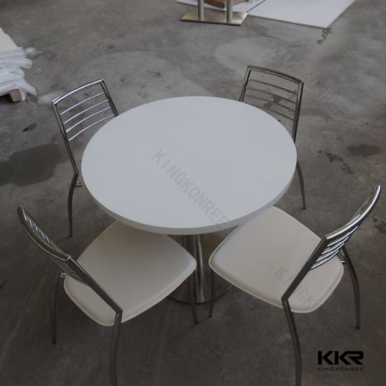 Solid Surface 4 Seaters Dining Table pictures & photos