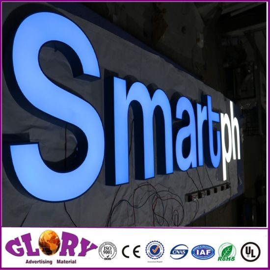 China Brushed Metal Channel Letter Signboard and LED Sign