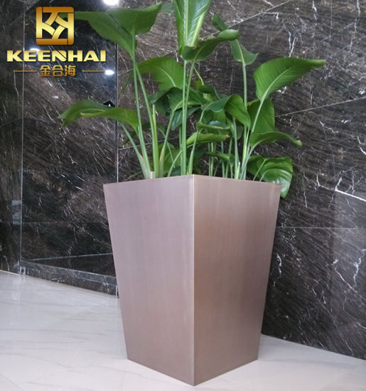 China Customized Stainless Steel Decorative Planters Indoor