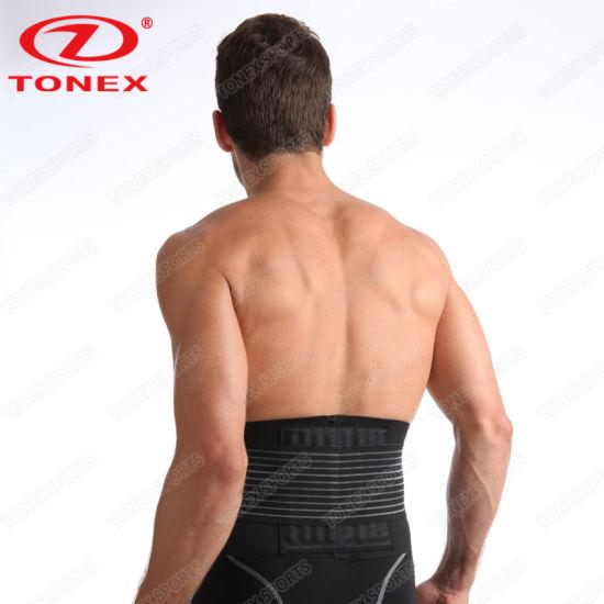 5984aba64c ... Velcro Adjustable Weight Loss Slimming Belt Waist Trimmer Back Support  for Men Women ...