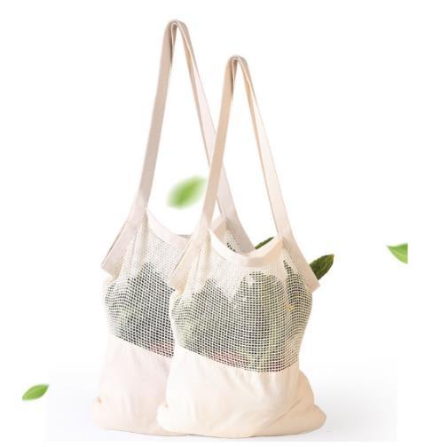 Washable Sustainable Recyclable Durable Shopping Fruits Vegetable Cotton Mesh Bag