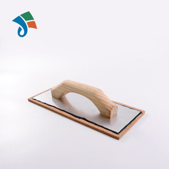 Aluminum Backing Cork Float Trowel With Wooden Handle