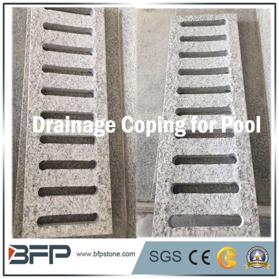 Swimming Pool Stone Granite Pool Coping Drainage Tiles Non Slip Decking