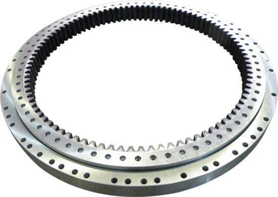 Single-Row Four Point Contact Slewing Ball Bearing with Internal Gear 9I-1b45-2490-0907-1 pictures & photos