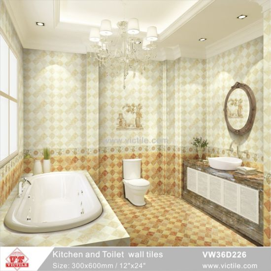 China Building Material 300600 Ceramic Wall Kitchen Bathroom Tile