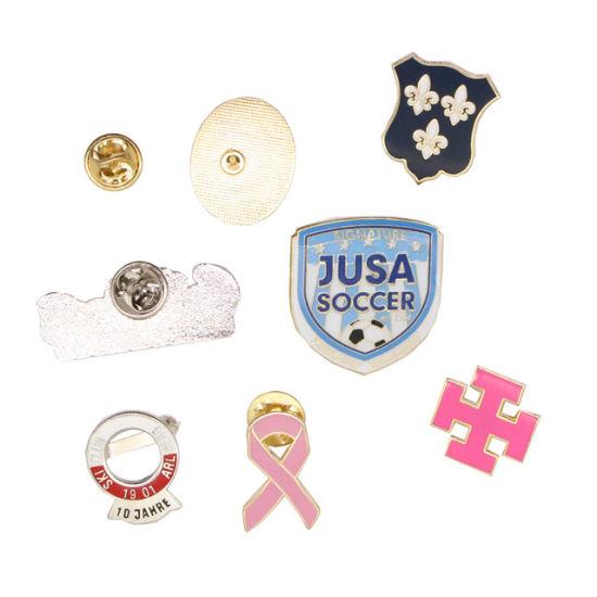 Custom Metal 3D Printing Badge, Gold Enamel Pin Promotional Metal Badge