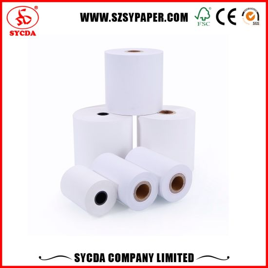 Wholesale 65g Bank Paper Thermal Till Paper Rolls pictures & photos