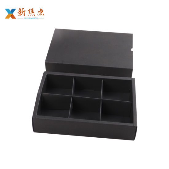 Wholesale Chocolate Candy Cardboard Food Package Gift Box with Divider