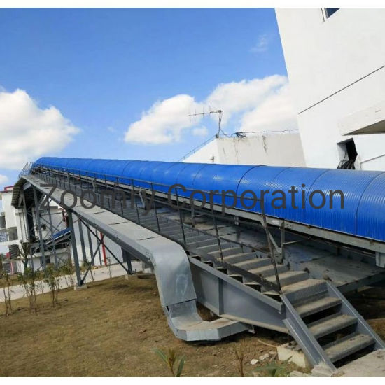 Long-Distance Curved Conveyor System with Durable Rubber Belt