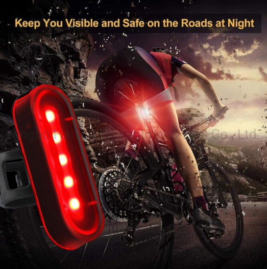 MTB Bike Bicycle Light LED Taillight Rechargeable Cycling USB Rear Safe Flash