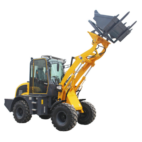 Construction Machinery Front End Small Skid Steer Telescopic Compact Shovel Mini Backhoe Wheel Loader with CE