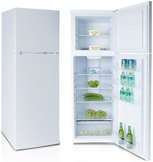 329L Home Use Round Domestic Mechanical Control Super General Top Freezer Fridge with Gems Meps Approved Kd-329fw