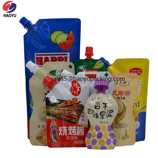 Stand up Pouch Food Packaging Drink Packaging Ziplock Plastic Bag Sachet Tomato Sauce Alumium Foil Detergent Packaging Bag for Yogurt Juice Sesame Tomato Paste