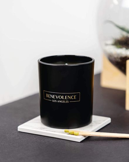 8oz Glass Candle Holders with Matte Black Glass Gift Box for Gift