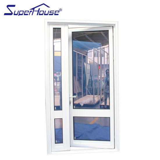 Superhouse Cheap PVC Windows and Doors Aluminum Hinged Frame Door Steel Glass Door for Sale