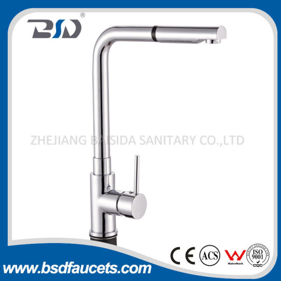 China Pull Out Spray Single Handle Contemporary Kitchen Faucet