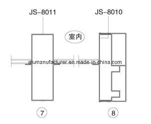 Js-80 Series Sash Aluminium Alloy Extrusion Profile for Door and Window pictures & photos