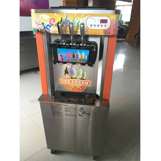 Manufacuture Commercial Hot Sale 3 Flavors Frozen Yogurt Fruit Machine Price pictures & photos