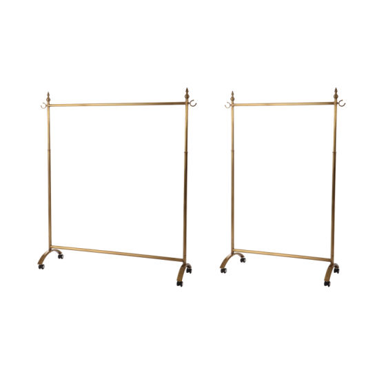 Rolling Metal Hanger Clothing Display Stand