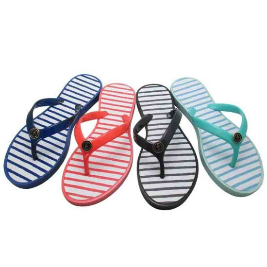 Popular Fashion Flip Flop Jelly Sandals PVC Beach Wedge Sandals pictures & photos