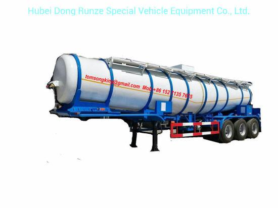 Sulfuric Acid Tanker V Shape Tank 22, 000liters Loading 99.8% H2so4 Transport 40 Ton