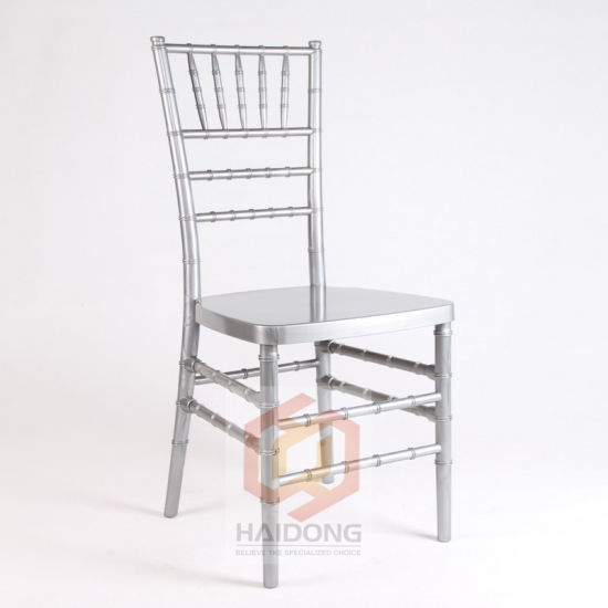 Polycarbonate Resin Silver Chivari Tiffany Chair in Wedding pictures & photos