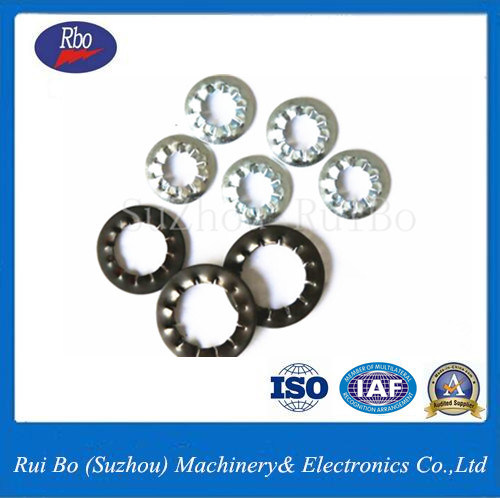 ISO 65mn DIN6798j Internal Serrated Lock Washers pictures & photos