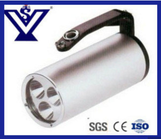 Portable Silver Police Handheld Anti-Riot Flashlight Electric Torch (SYSG-2018103)