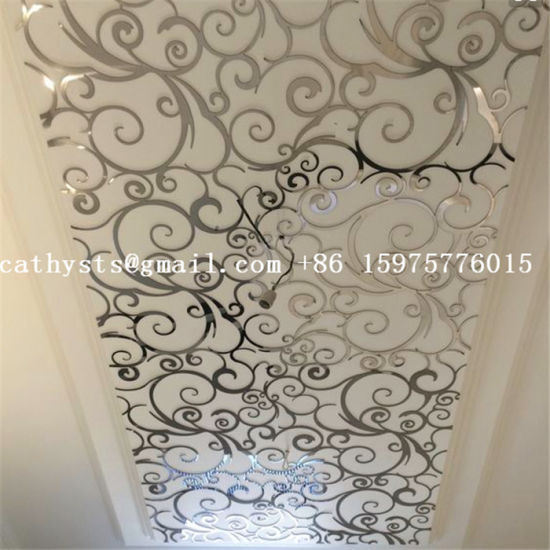 China High Quality Stainless Steel Decorative Ceiling Board Laser
