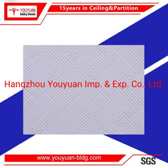 PVC Laminated Gypsum Suspended Ceiling Tiles pictures & photos