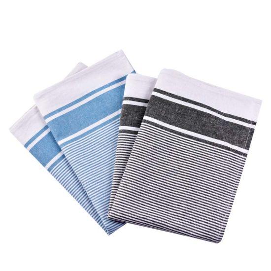 Factory Price Grid Printed Cotton Fabric Kitchen Tea Towel