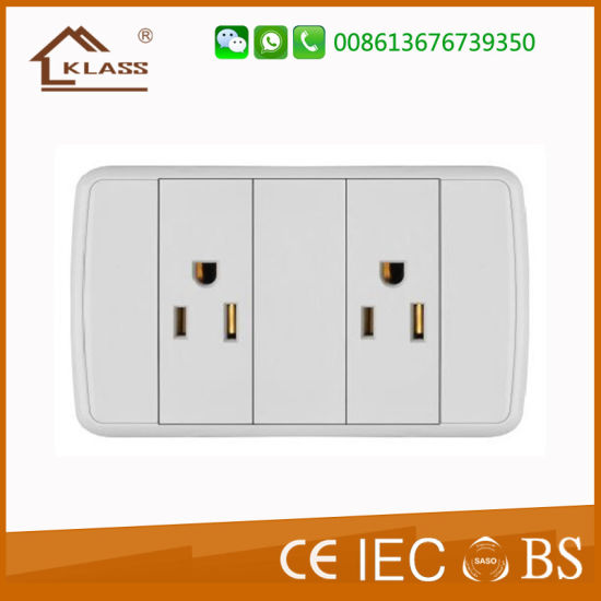 Wall Electrical 3pole Push Button Socket pictures & photos