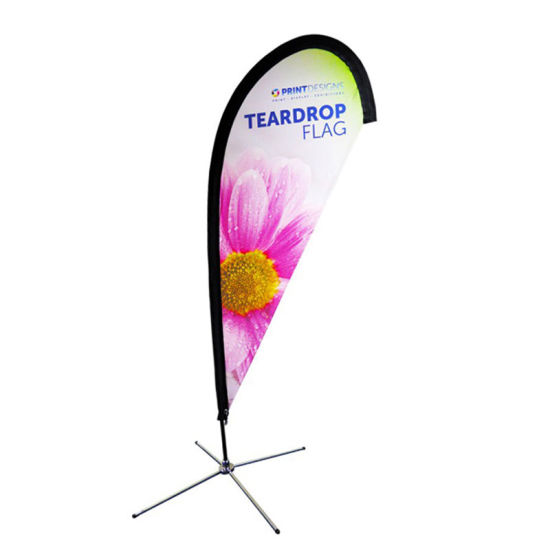 Promotion Flying Feather Street Outdoor Teardrop Flag Stand