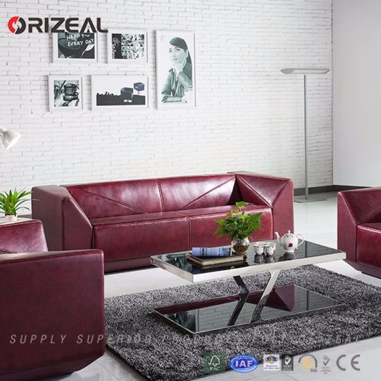Orizeal Quality Living Room Furniture Red Sofa Set (OZ-OSF018) pictures & photos