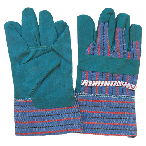 PVC Impregnated Stripe Cotton Back Garden Work Safety Glove