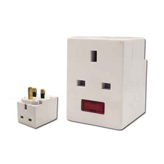 Universal Socket with Light 13A Plug Socket Power Adaptor