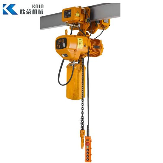 Single Speed Electric Chain Hoist with Electric Trolley 1t pictures & photos