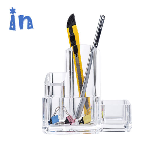 Chinese Factory High Pen Holder Clear Acrylic Office Organizer pictures & photos