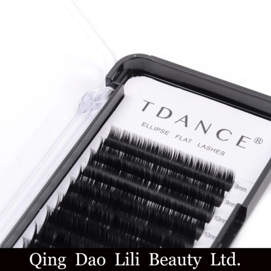 5188582dd1b Ellipse Flat Shaped Eyelash Extensions Cashmere Volume C Curl D Curl Lashes  OEM Individual 0.10 0.15