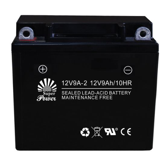 Sealed Maintenance Free Motorcycle Battery 12V 9ah with CE UL Certificate Called 12V9A-2