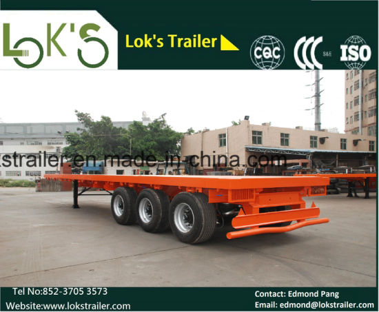 Single Tyre Flatbed Semi Trailer pictures & photos