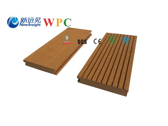 100*20mm Wood Plastic Composite Decking with CE, Fsg SGS, Certificate