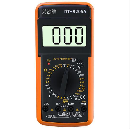 Dt9205A Automatic Shutdown Digital Display Multimeter High Precision Multimeter Digital Burn-Proof Meter