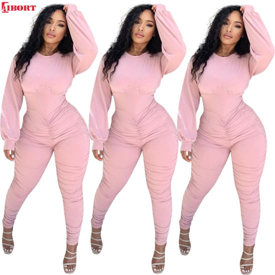China Aibort Wholesale Woman Fashion Black Jogging Suit Sport Track Suit -  China Sports Wear and Leggings price