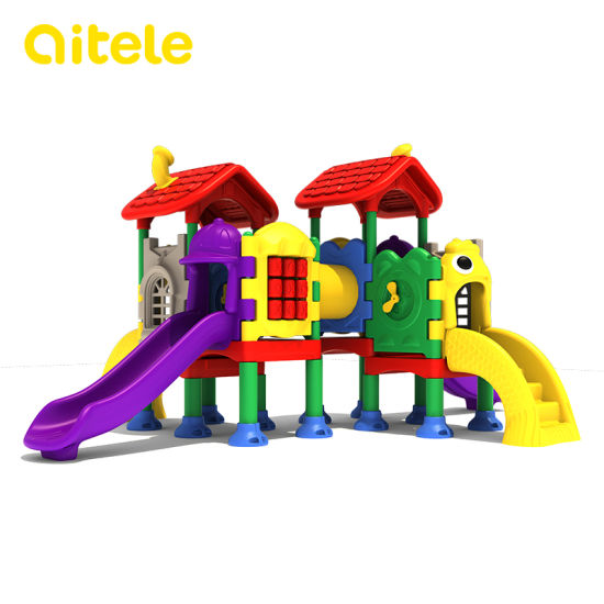 Qitele Outdoor Playground Kidscenter Plastic Children Indoor Playground (KID-22201, CD-07X)