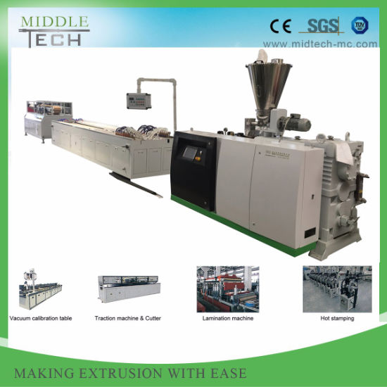 Plastic PVC Electrical Cable Conduit Trunking Profile (pipe) Extrusion Making Machine