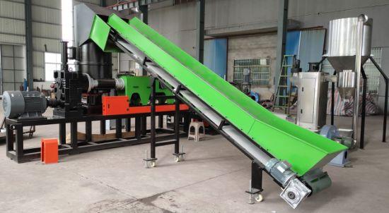 LDPE Waste Plastic Recycling Washing Granulating Machine